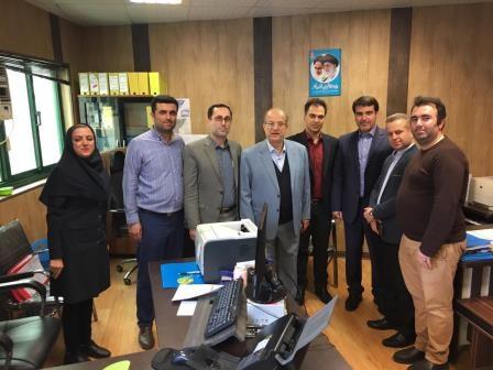 دیدار نوروزی اسماعیل حاجی پور عضو شورای اسلامی کلانشهر رشت با کارکنان شهرداری منطقه یک رشت